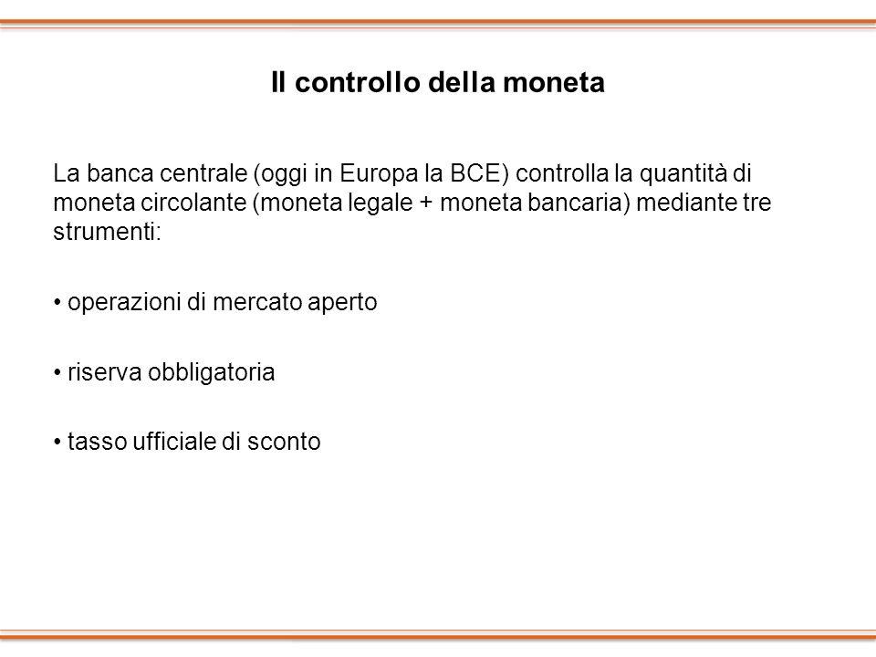 Il controllo della moneta