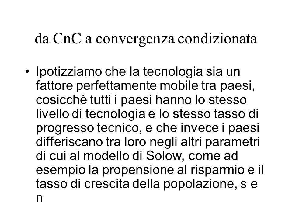 da CnC a convergenza condizionata