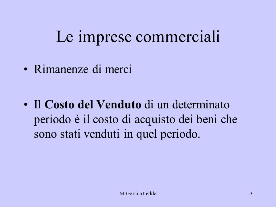 Le imprese commerciali