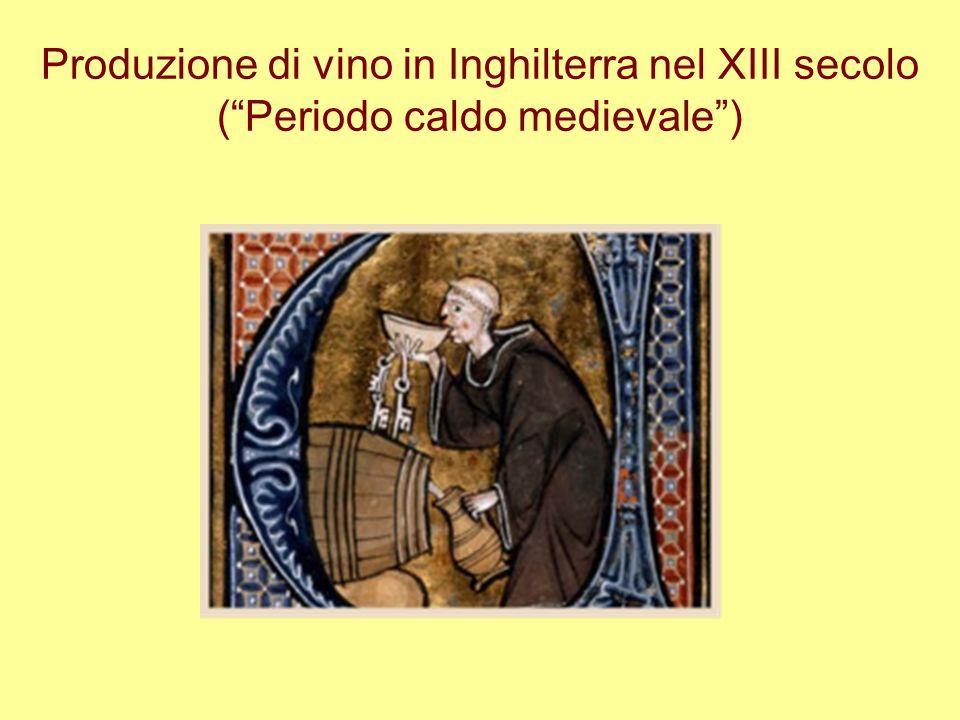 Produzione di vino in Inghilterra nel XIII secolo ( Periodo caldo medievale )