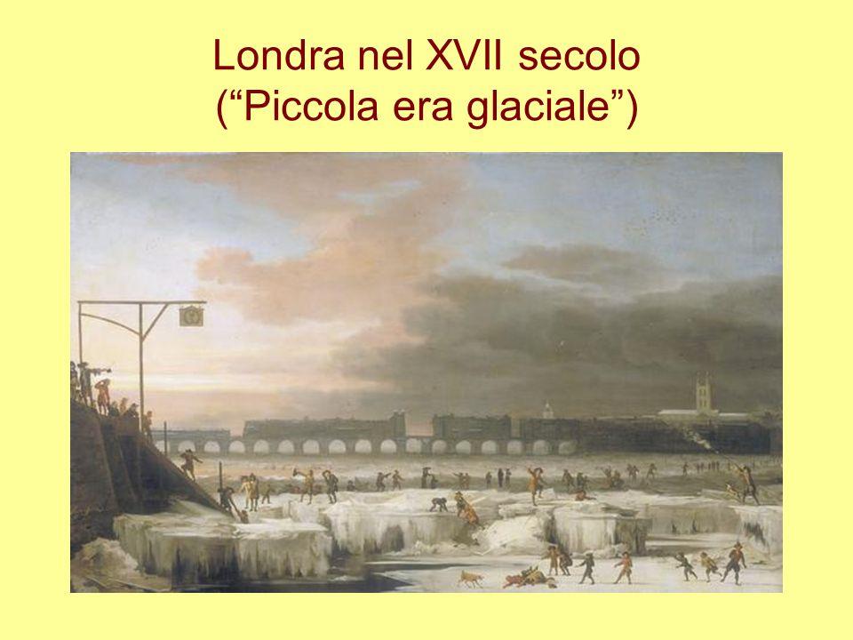 Londra nel XVII secolo ( Piccola era glaciale )
