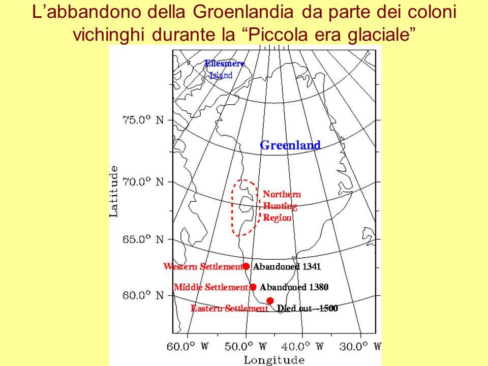 L'abbandono della Groenlandia da parte dei coloni vichinghi durante la Piccola era glaciale