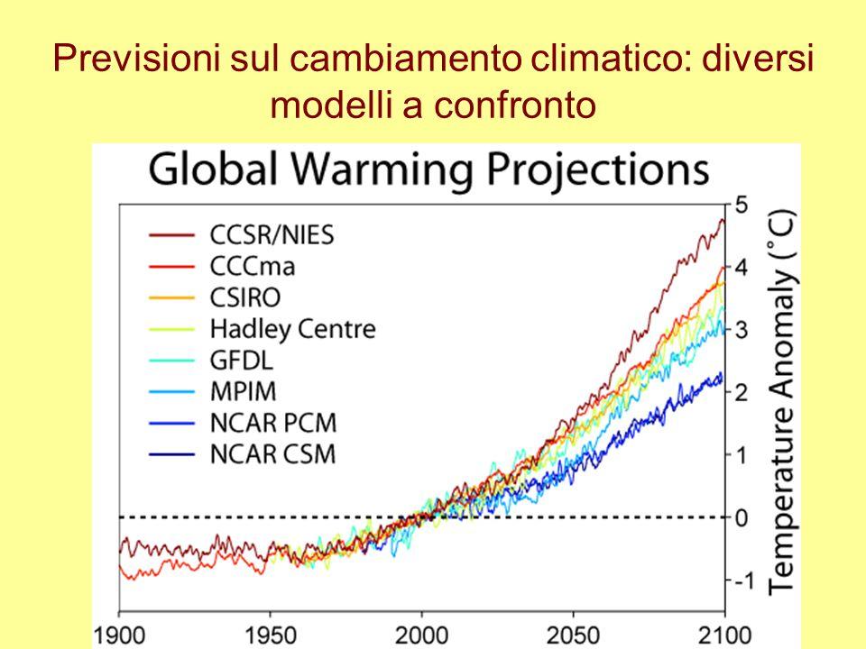 Previsioni sul cambiamento climatico: diversi modelli a confronto
