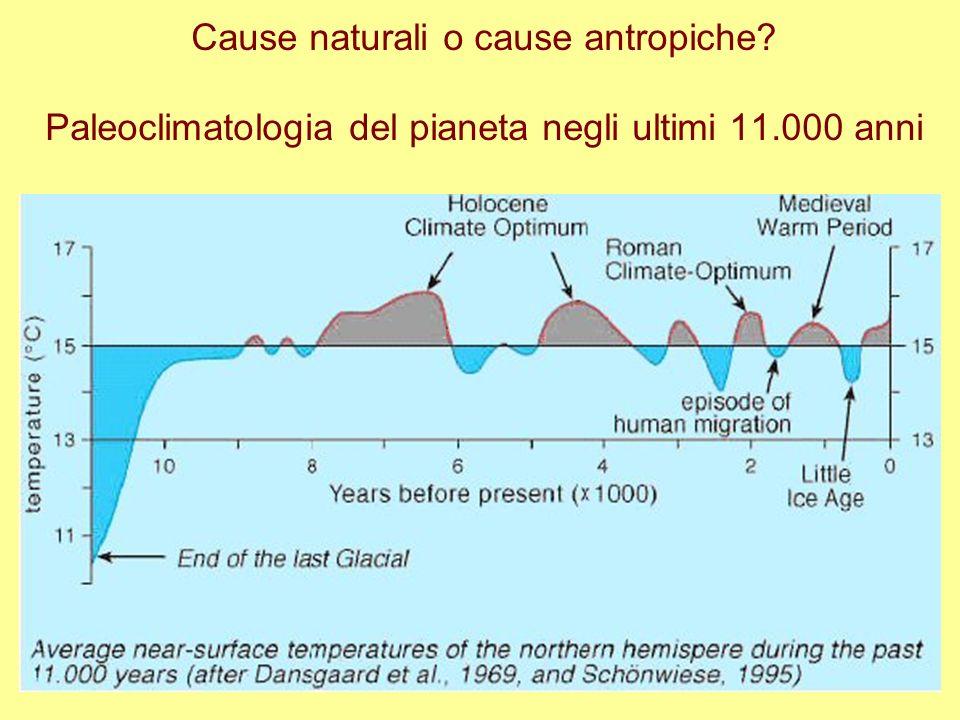 Cause naturali o cause antropiche