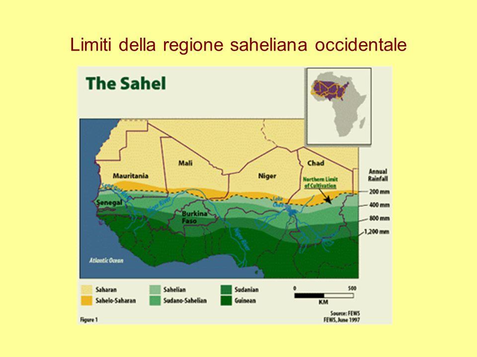 Limiti della regione saheliana occidentale