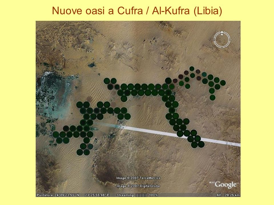Nuove oasi a Cufra / Al-Kufra (Libia)
