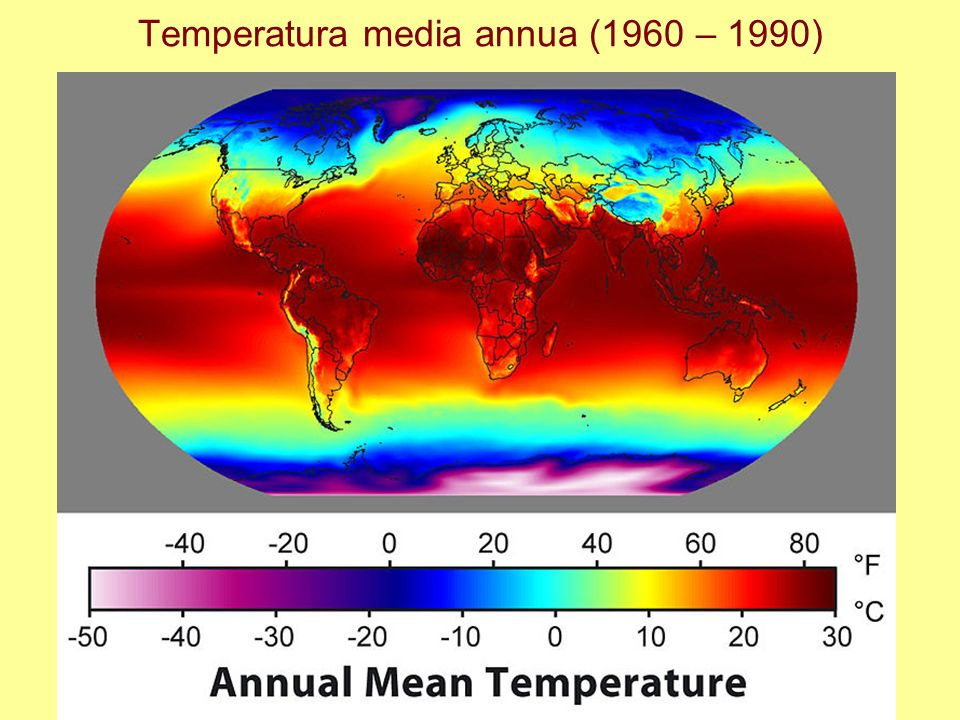 Temperatura media annua (1960 – 1990)
