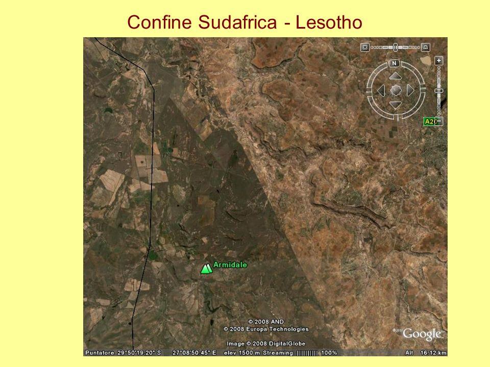 Confine Sudafrica - Lesotho