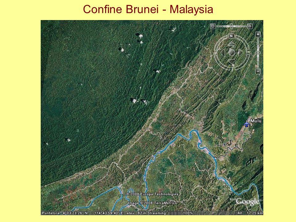 Confine Brunei - Malaysia