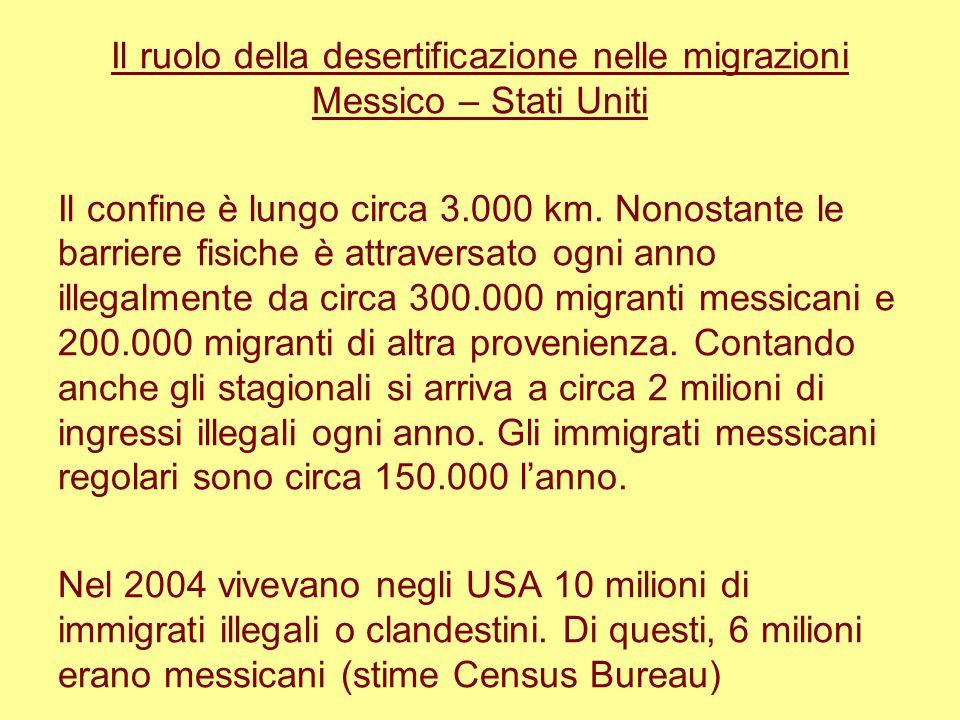 Il ruolo della desertificazione nelle migrazioni Messico – Stati Uniti