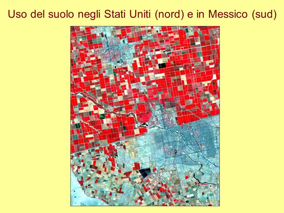 Uso del suolo negli Stati Uniti (nord) e in Messico (sud)