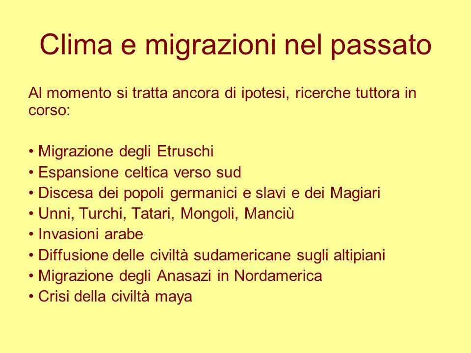 Clima e migrazioni nel passato