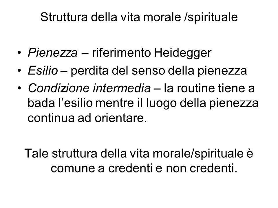 Struttura della vita morale /spirituale
