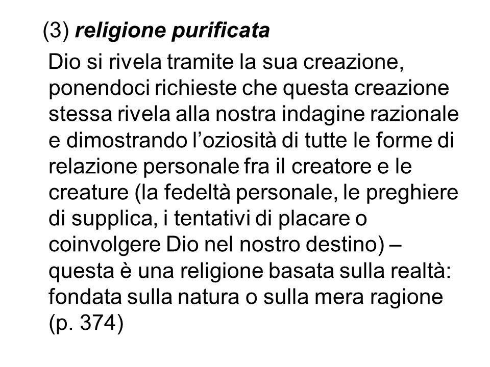 (3) religione purificata