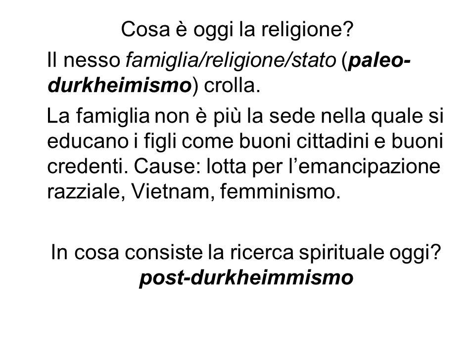 Cosa è oggi la religione