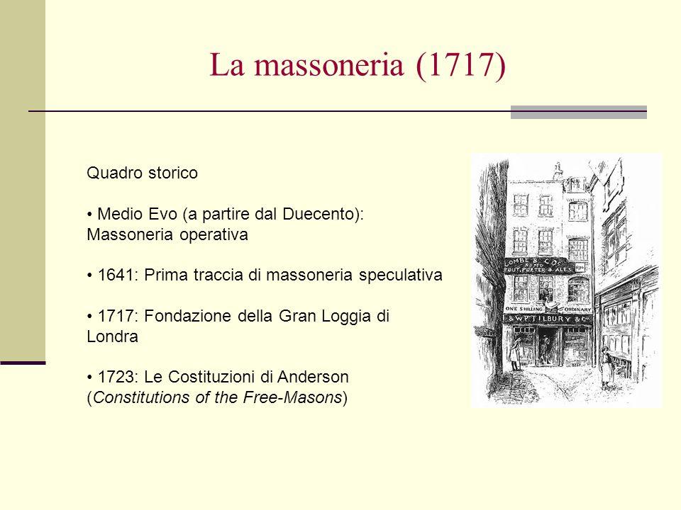 La massoneria (1717) Quadro storico