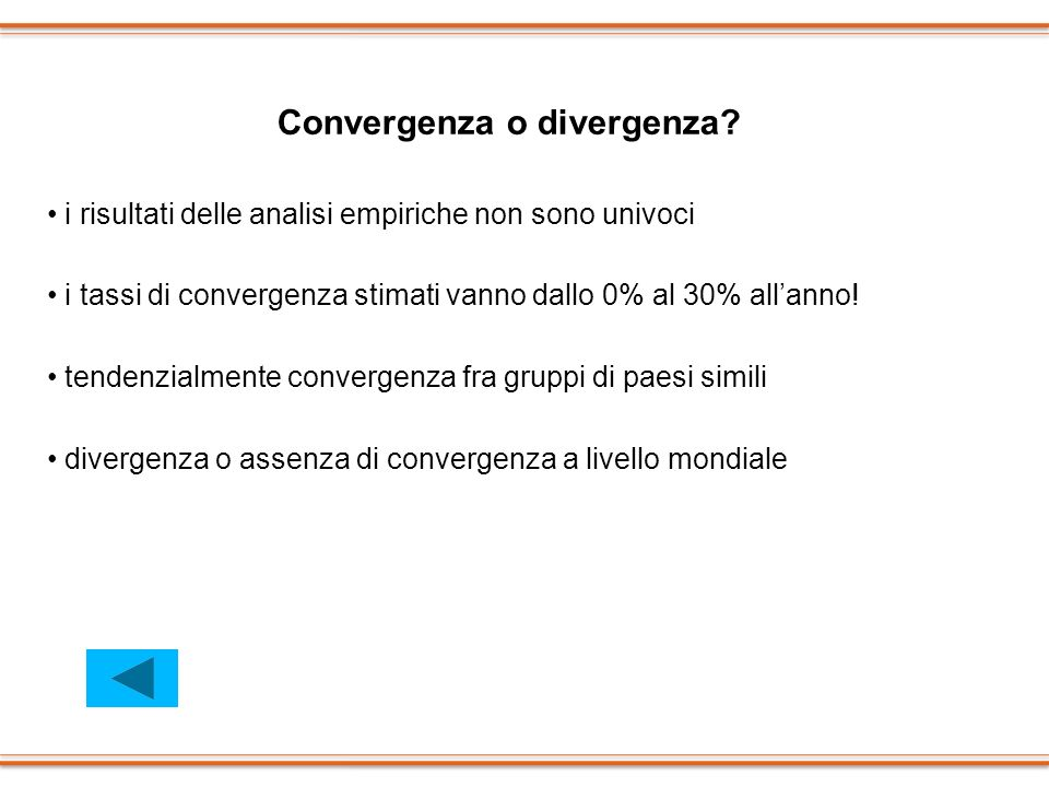 Convergenza o divergenza