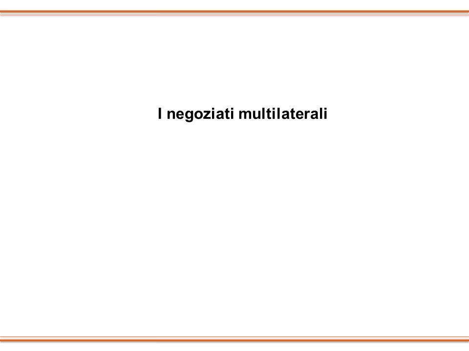 I negoziati multilaterali