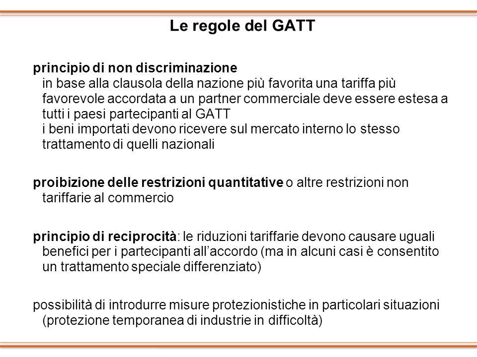 Le regole del GATT