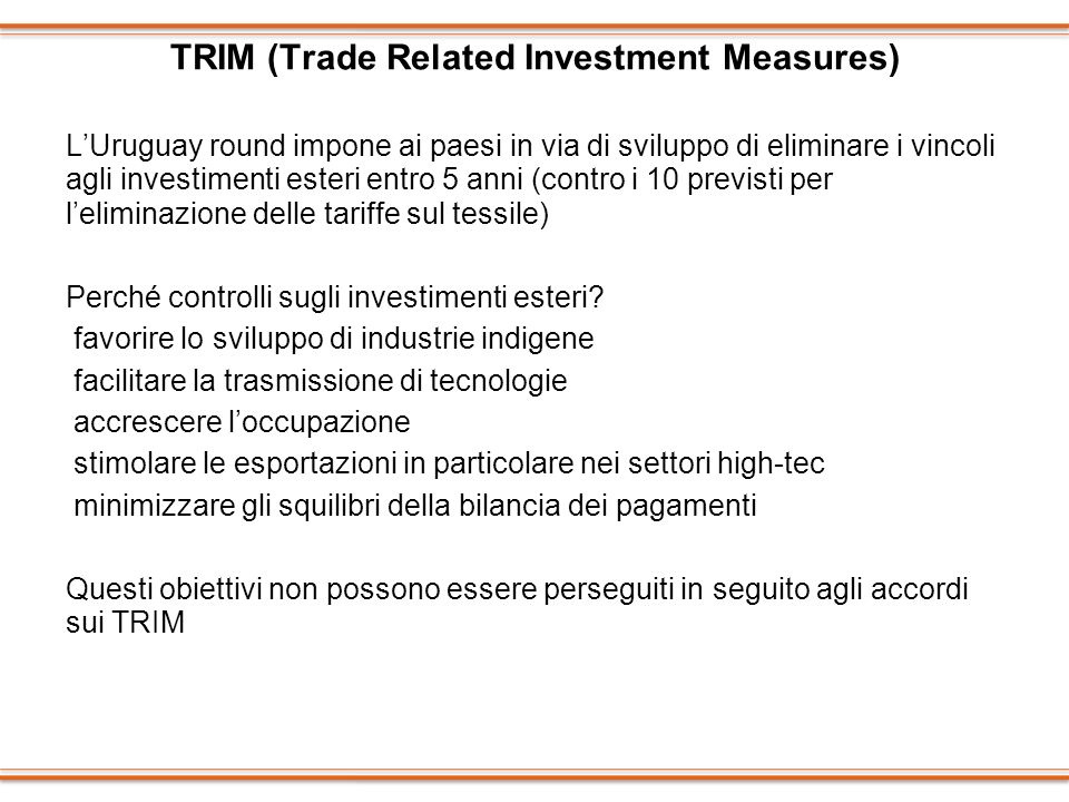TRIM (Trade Related Investment Measures)