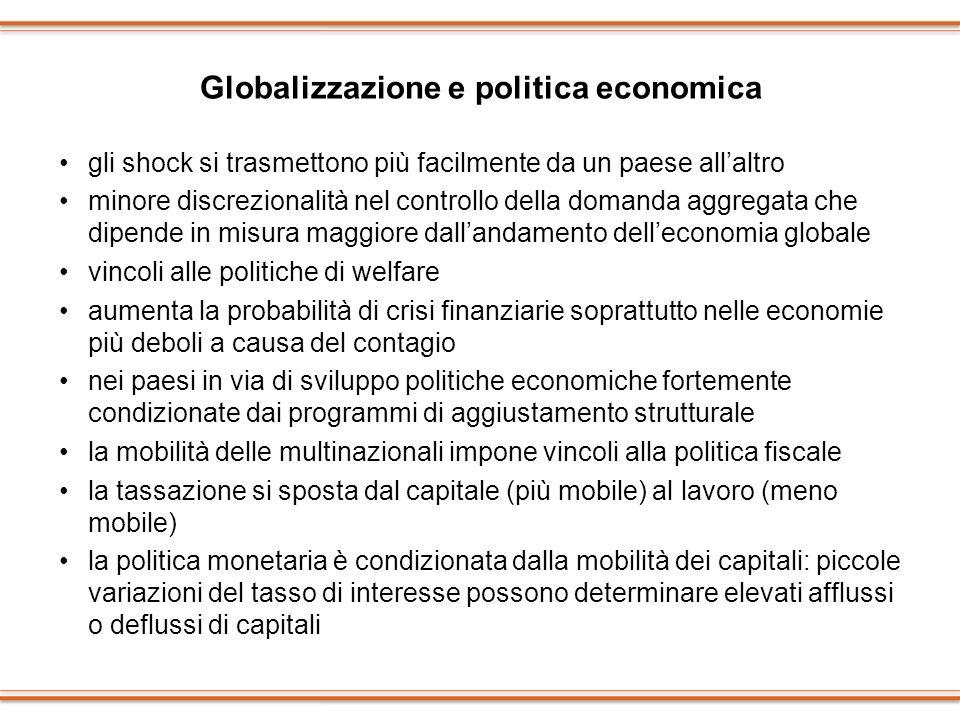 Globalizzazione e politica economica