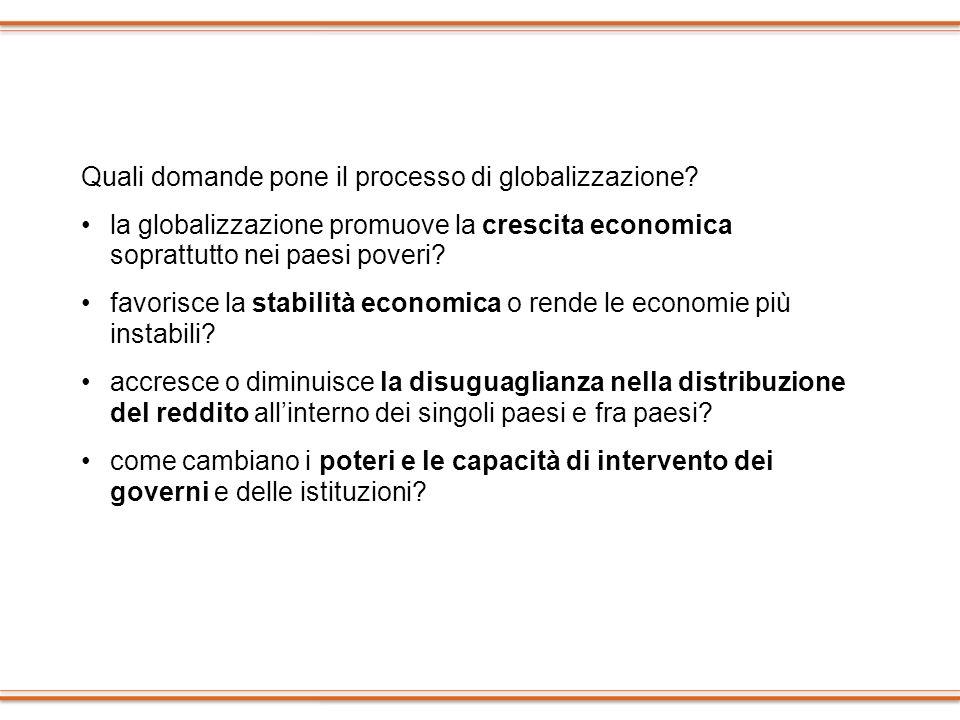 Quali domande pone il processo di globalizzazione