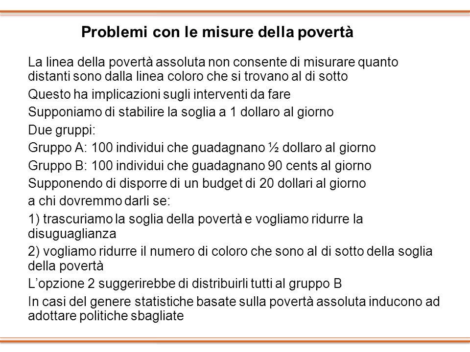 Problemi con le misure della povertà