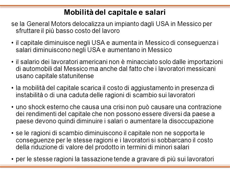 Mobilità del capitale e salari