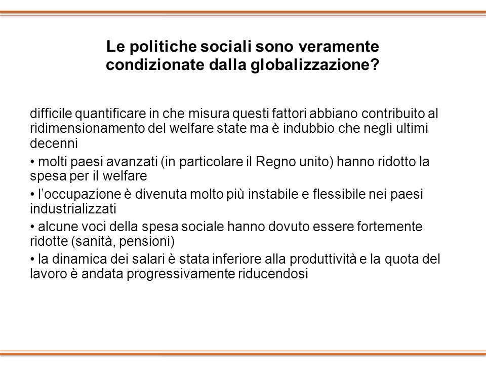 Le politiche sociali sono veramente condizionate dalla globalizzazione