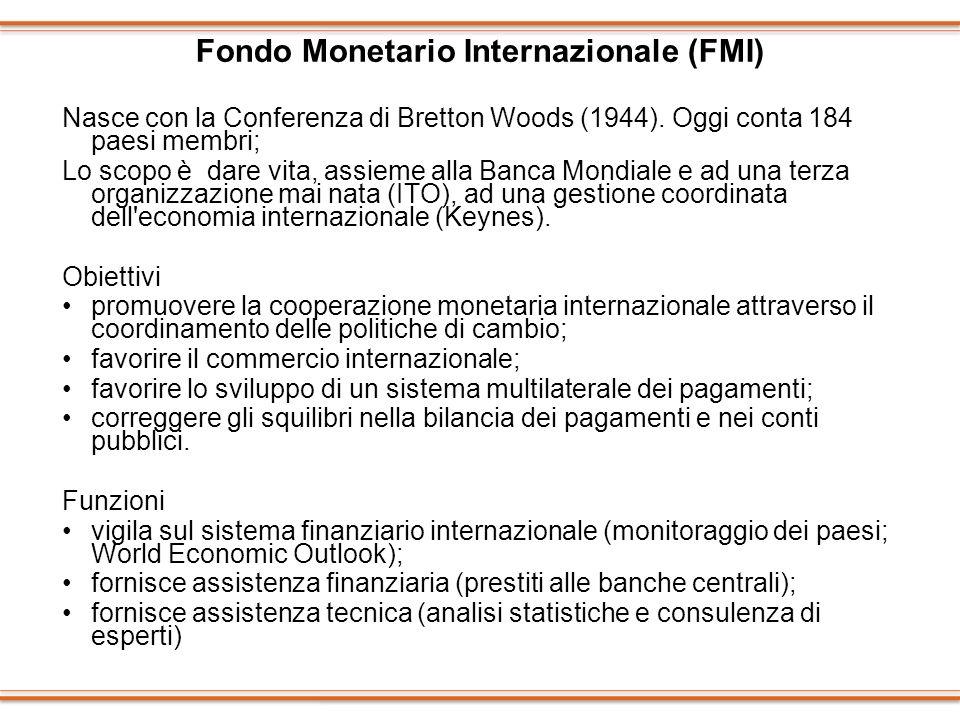 Fondo Monetario Internazionale (FMI)