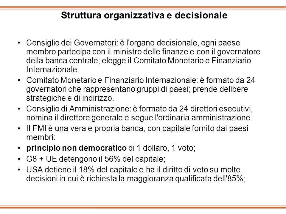 Struttura organizzativa e decisionale