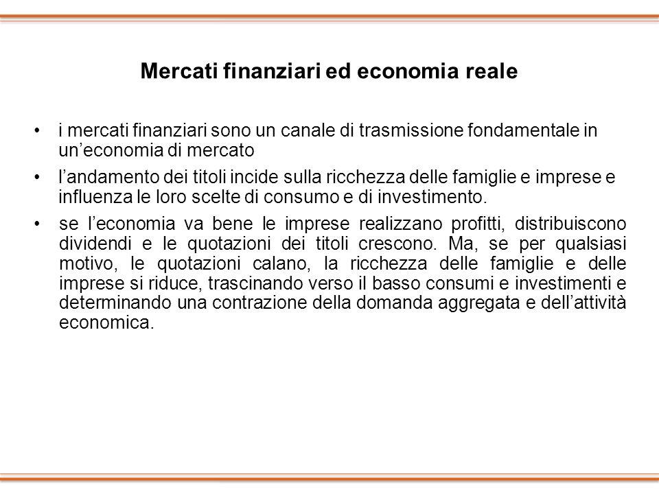 Mercati finanziari ed economia reale