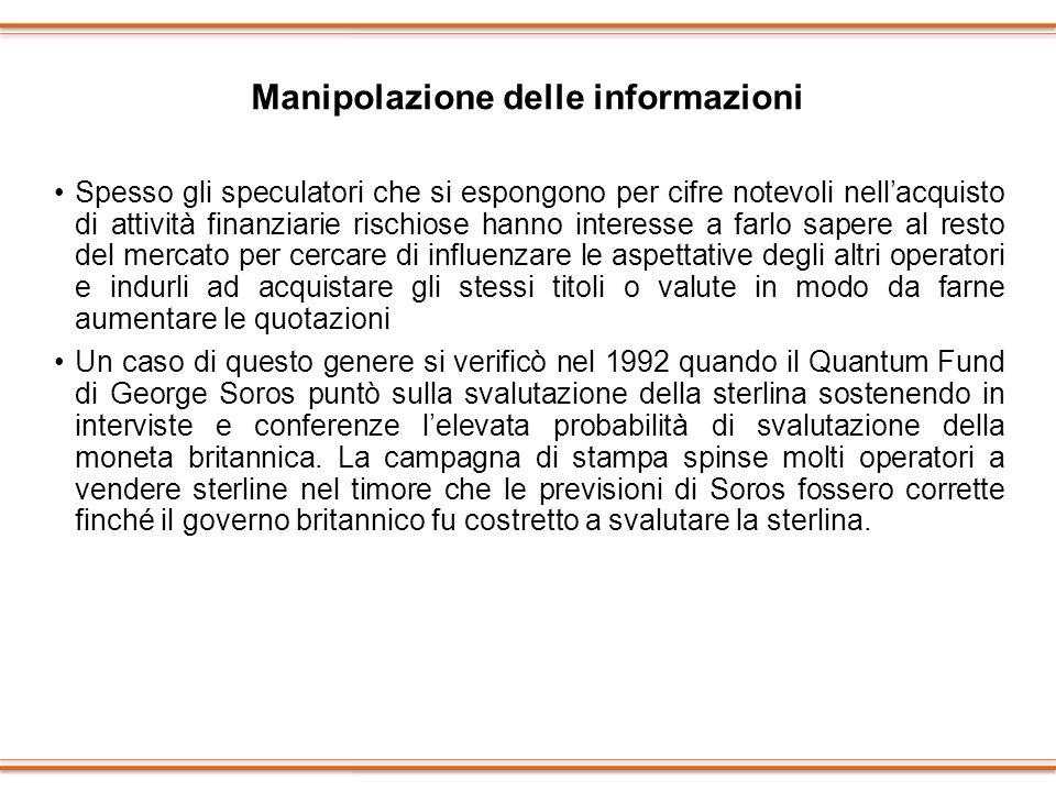 Manipolazione delle informazioni