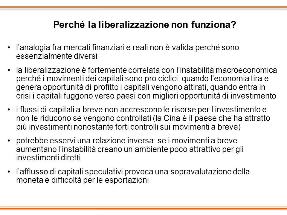 Perché la liberalizzazione non funziona
