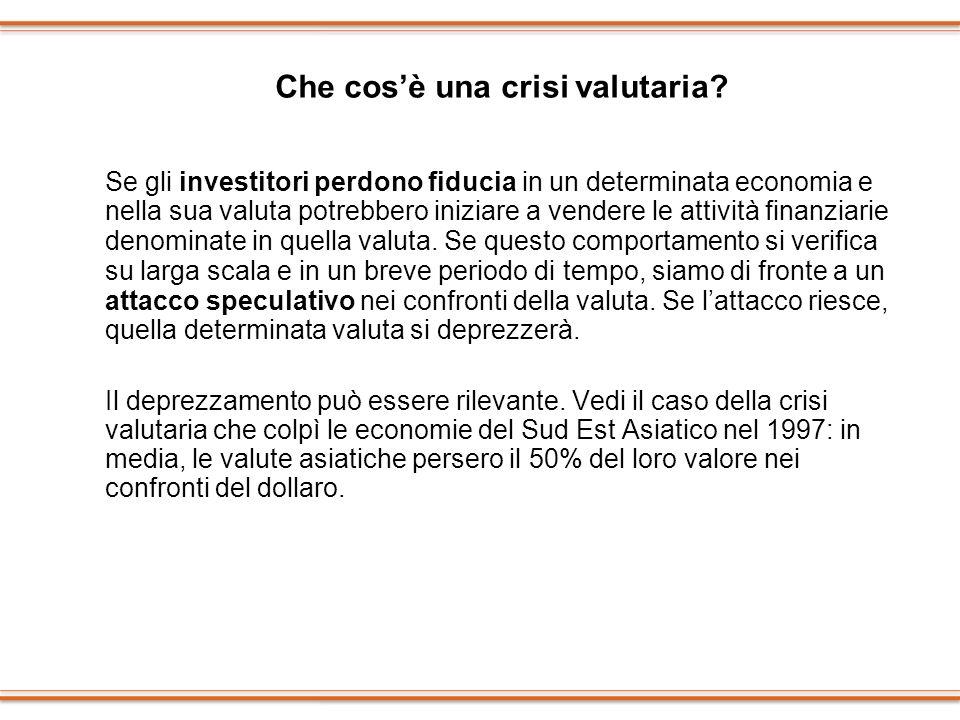 Che cos'è una crisi valutaria