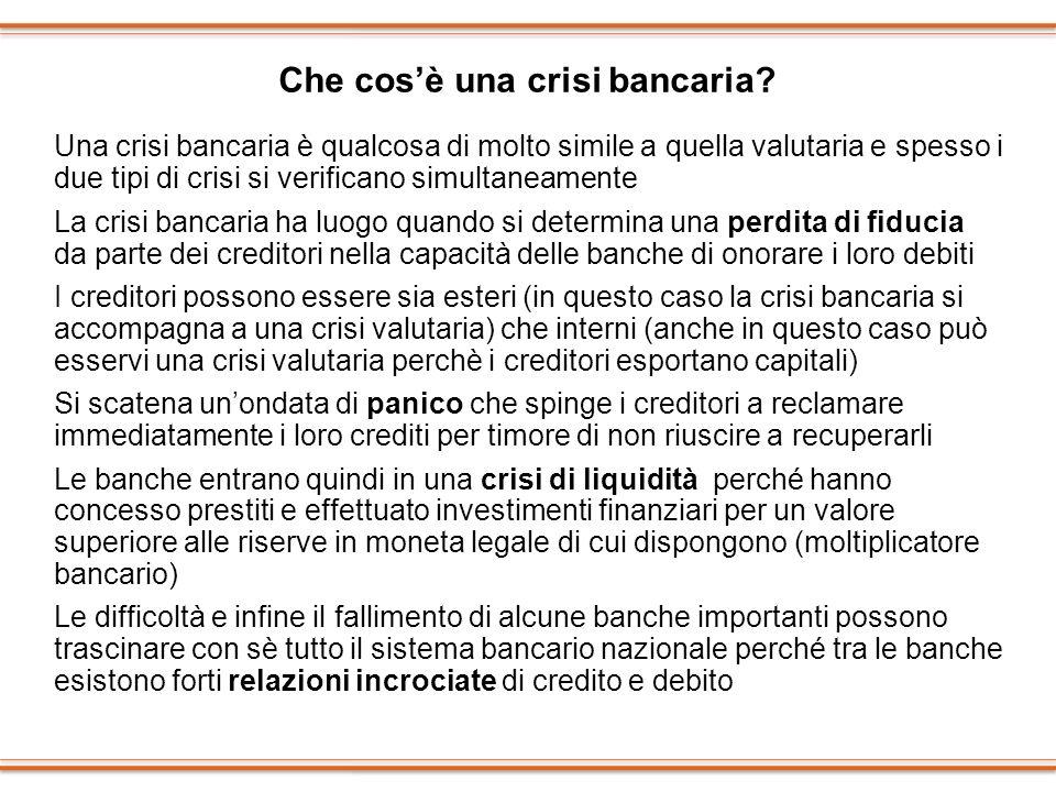 Che cos'è una crisi bancaria