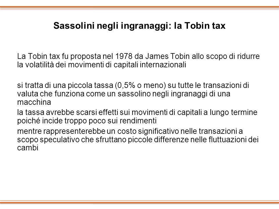 Sassolini negli ingranaggi: la Tobin tax
