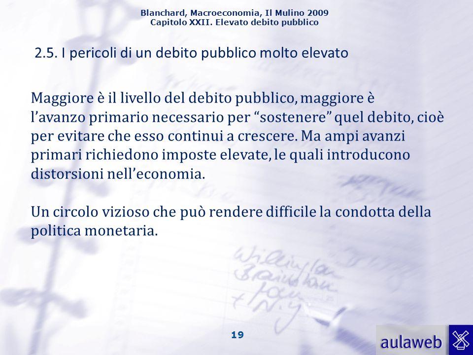 2.5. I pericoli di un debito pubblico molto elevato