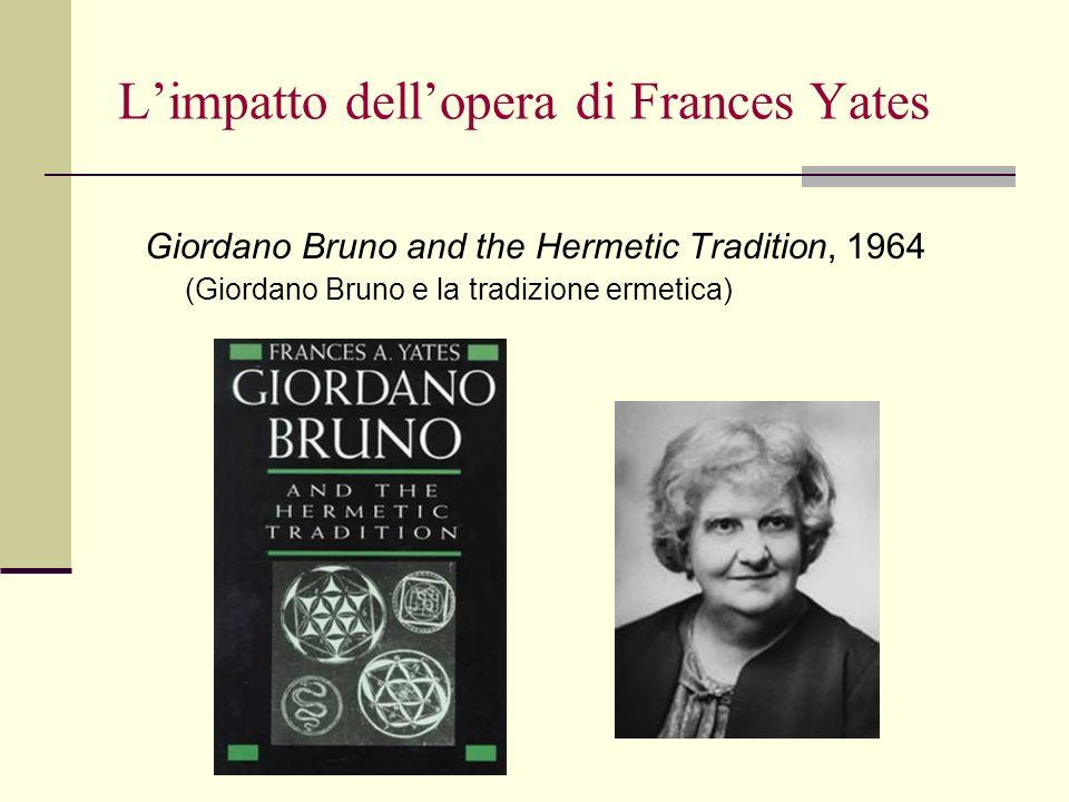 L'impatto dell'opera di Frances Yates