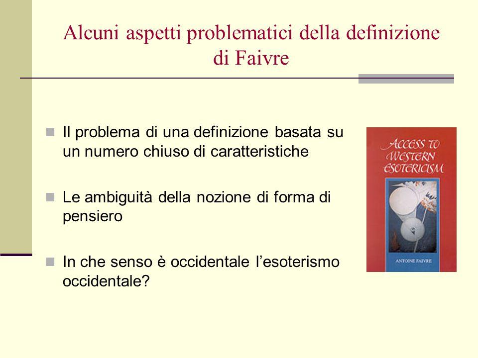 Alcuni aspetti problematici della definizione di Faivre