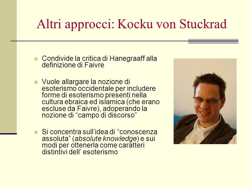 Altri approcci: Kocku von Stuckrad