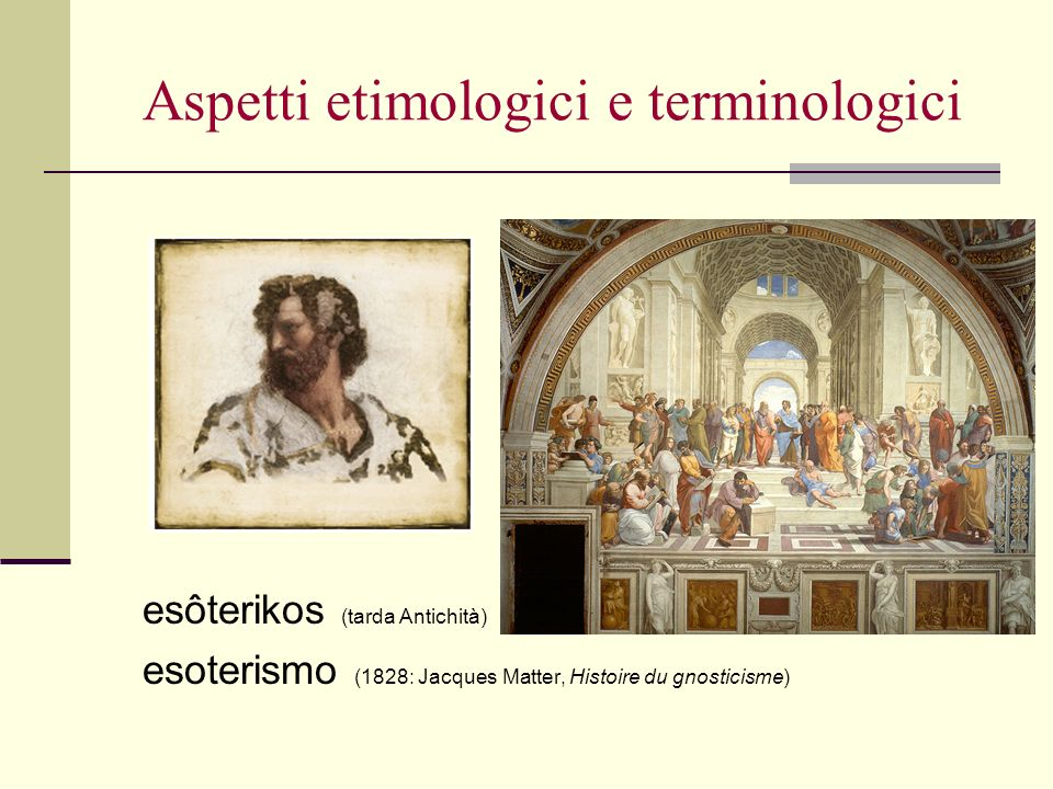 Aspetti etimologici e terminologici