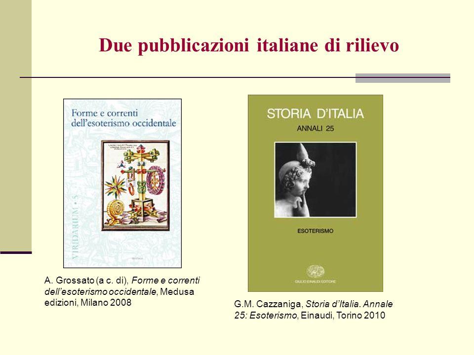 Due pubblicazioni italiane di rilievo