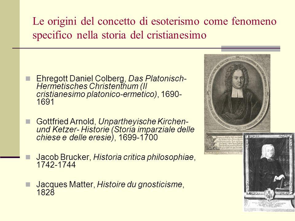 Le origini del concetto di esoterismo come fenomeno specifico nella storia del cristianesimo
