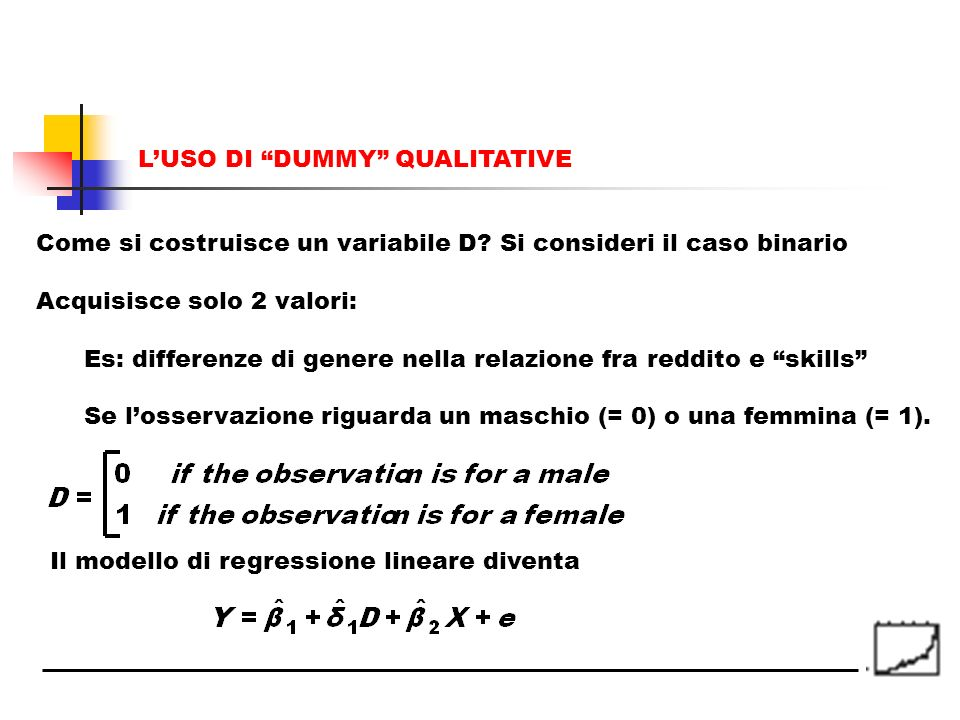 L'USO DI DUMMY QUALITATIVE