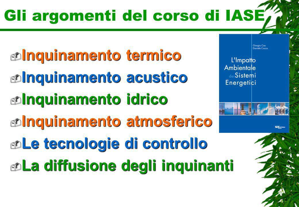 Gli argomenti del corso di IASE