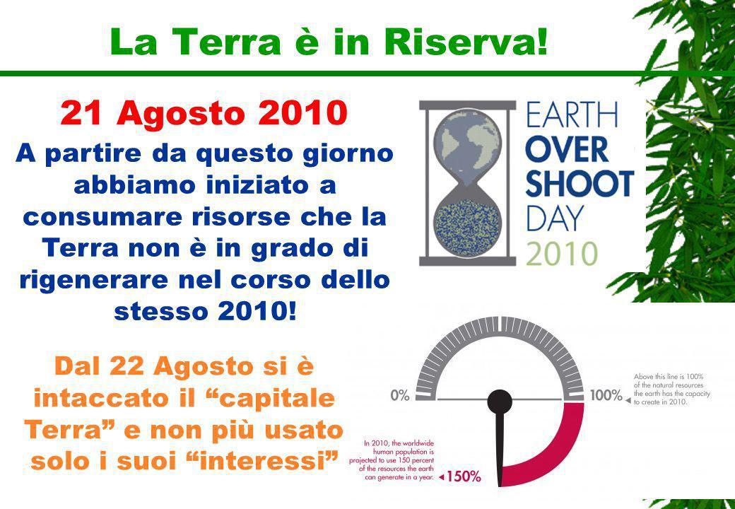 La Terra è in Riserva! 21 Agosto 2010