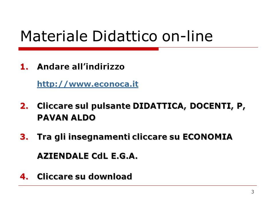 Materiale Didattico on-line