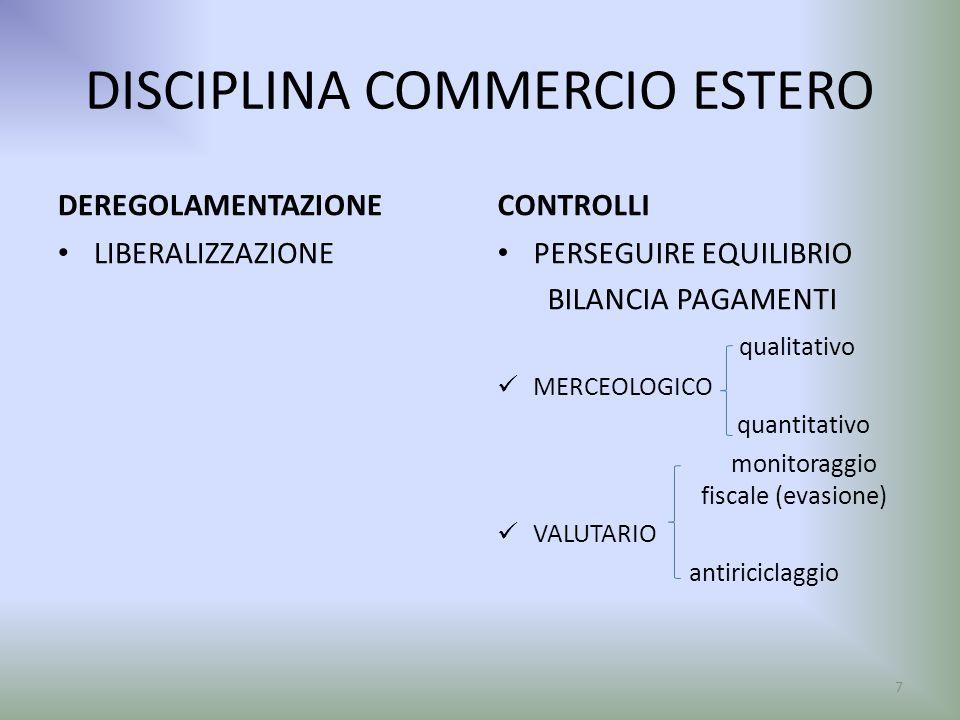 DISCIPLINA COMMERCIO ESTERO