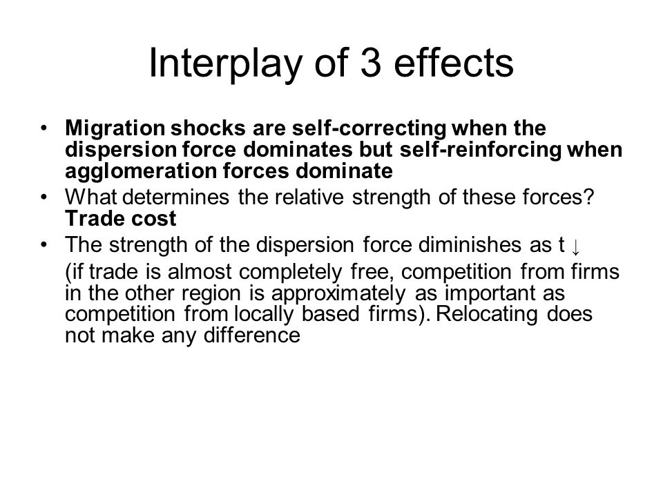 Interplay of 3 effects